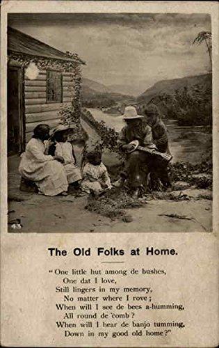 The Old Folks at Home Poems & Poets Original Vintage Postcard