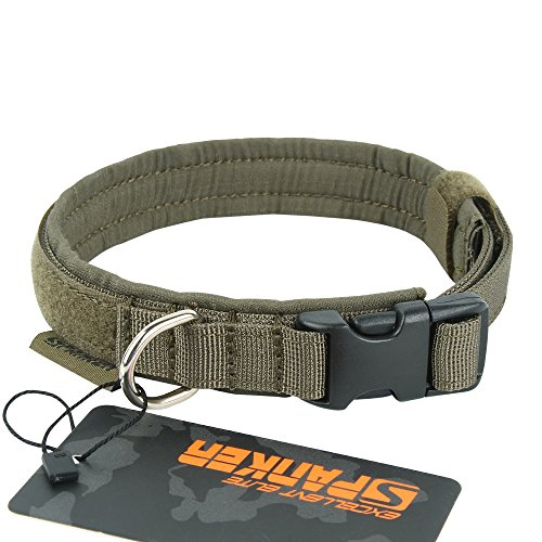 EXCELLENT ELITE SPANKER Dog Collar Military Nylon Adjustable Dog Collar for Small Dog Soft Padded Pet Collar(RGN-XS)