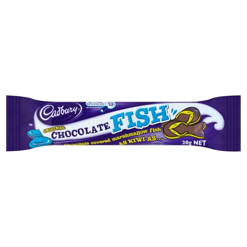 Amazon.com : Cadbury Original Chocolate Fish Bar (20g) : Grocery ...