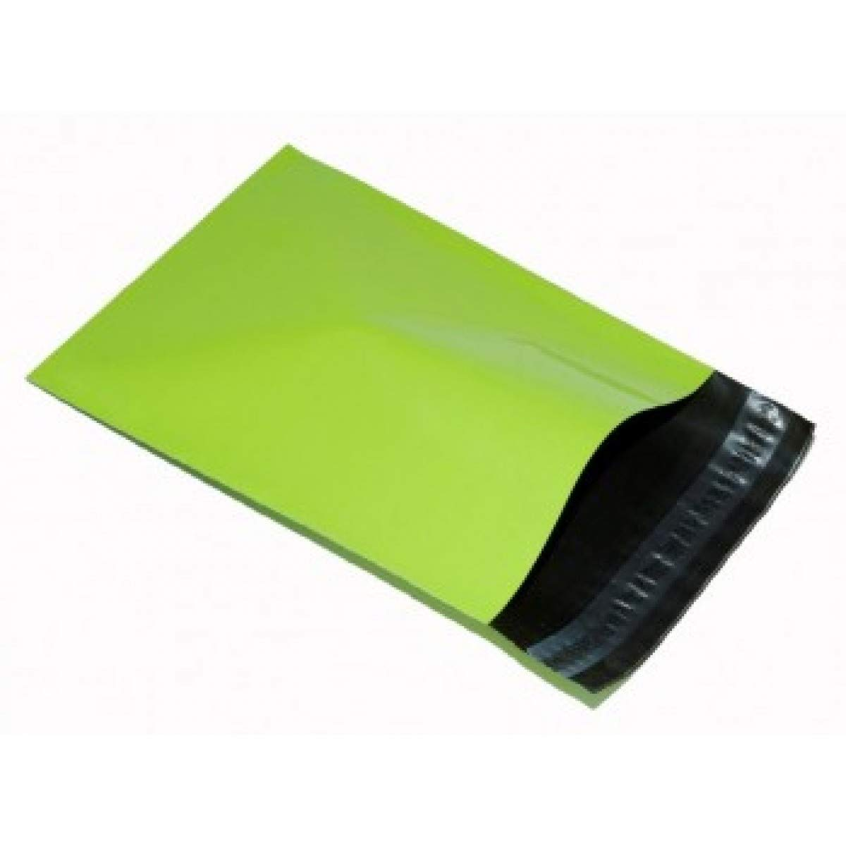 """REALPACK® 100 x Neon Green Plastic Poly Mailing Bags Envelopes Size 12"""" x 16"""" 305mm x 406mm+(40mm Lip) DVD Postal Postage Free Fast Shipping"""