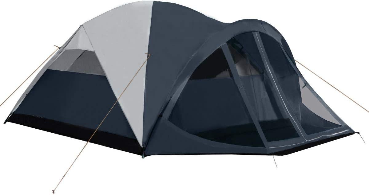 Pacific Pass Camping Tent 6 Person Family Dome Tent