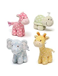 Gund Lolly and Friends Plush Giraffe Elephant Turtle Horse Rattle (Set of 4) BOBEBE Online Baby Store From New York to Miami and Los Angeles