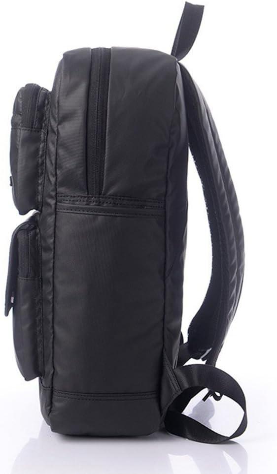 FHGJ Casual PU Leather Vintage Fashion Unisex School Student Laptop Backpack