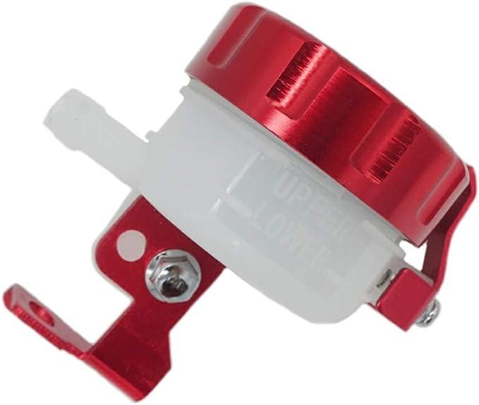Qiilu Motorcycle Foot Rear Brake Master Cylinder Tank Oil Cup Fluid Bottle Reservoir Motorcycle Brake system modification