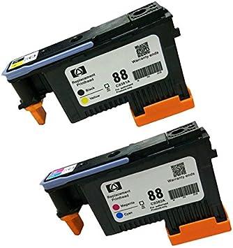 Caidi Cabezal de impresión 2x compatible para HP 88 Cabezal de ...