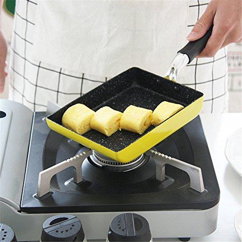 SHEbaking Japanese Tamagoyaki Omelette Hard Anodized Non-Stick Coating Stainless- Steel Egg Pan (Pink)