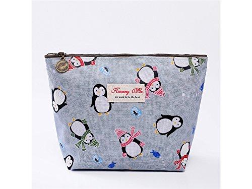 XDXDWEWERT Makeup Tasche Mode Aufbewahrungstasche Pinguin Kosmetiktasche Tasche Make-up Tasche für Frauen (blau)