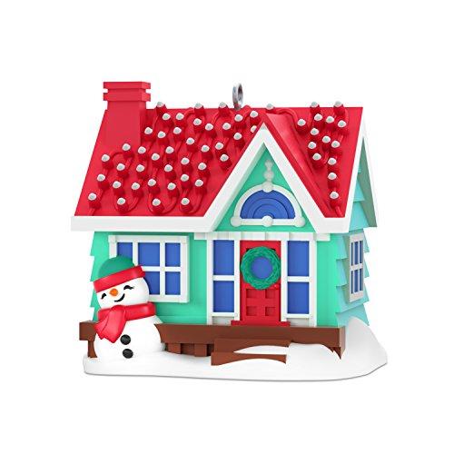 "Hallmark Keepsake Mini Christmas Ornament 2018 Year Dated, Santa Hot Air Balloon Up and Away  Miniature, 1.31"""