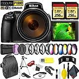 Nikon COOLPIX P1000 Digital Camera + 512GB Memory Card Professional Kit International Model