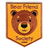 Embroidered Sew or Iron-on Backing Patch Yoga Space Explorer Time Traveler Camp Galaxy Planet Bear Bike Camera (Bear Friend Society)