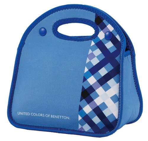BENETTON (Benetton) soft lunch bag check / Blue MA-5384