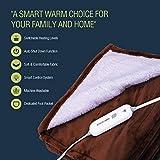 Electric Blanket Heated Throw w/ Foot Pocket