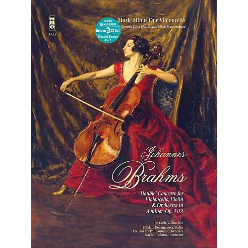 Brahms - Double Conc for Violoncello, Violin & Orch in A min, Op. 102 Music Minus One BK/CD by Brahms Pack of - Violin Orch