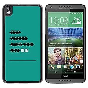 Be Good Phone Accessory // Dura Cáscara cubierta Protectora Caso Carcasa Funda de Protección para HTC DESIRE 816 // Run Exercise Teal Motivational