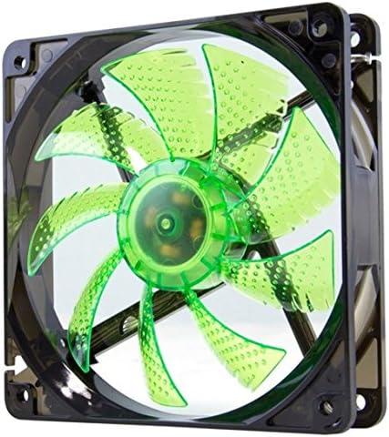 Nox Coolfan 120 - NXCFAN120LG - Ventilador para Caja PC, 12 cm, LED Verde: Amazon.es: Informática
