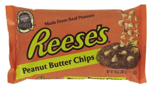 Reese's Baking Chips Peanut Butter Flavored, 10-Ounce Bags (Pack of 6)