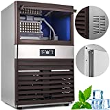 VEVOR 110V Commercial Ice Maker Stainless Steel Portable Automatic for Home Supermarkets Cafes, 121lbs/24h, Digital Machine