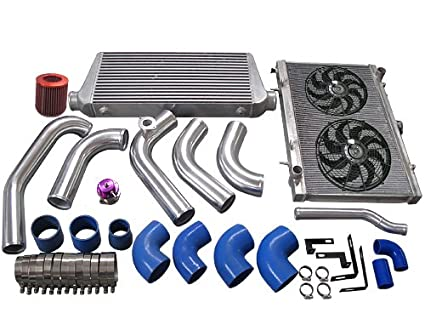 1JZGTE VVTI 1JZ Swap 240SX S13 S14 Intercooler Piping Intake Radiator HardPipe Fan Kit Stock Turbo