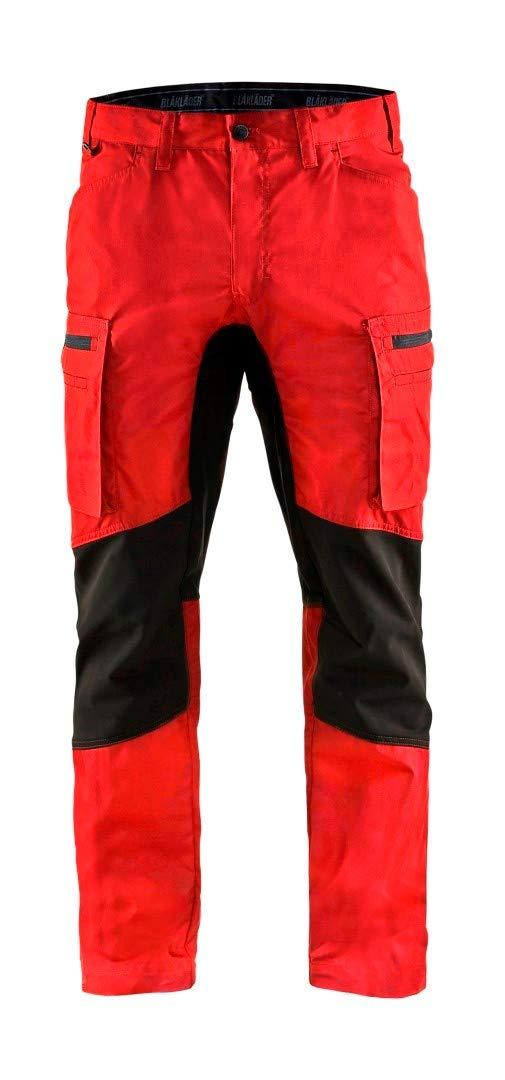 Blaklader 145918455699D92 Stretch Safety Pants, Red/Black, D92
