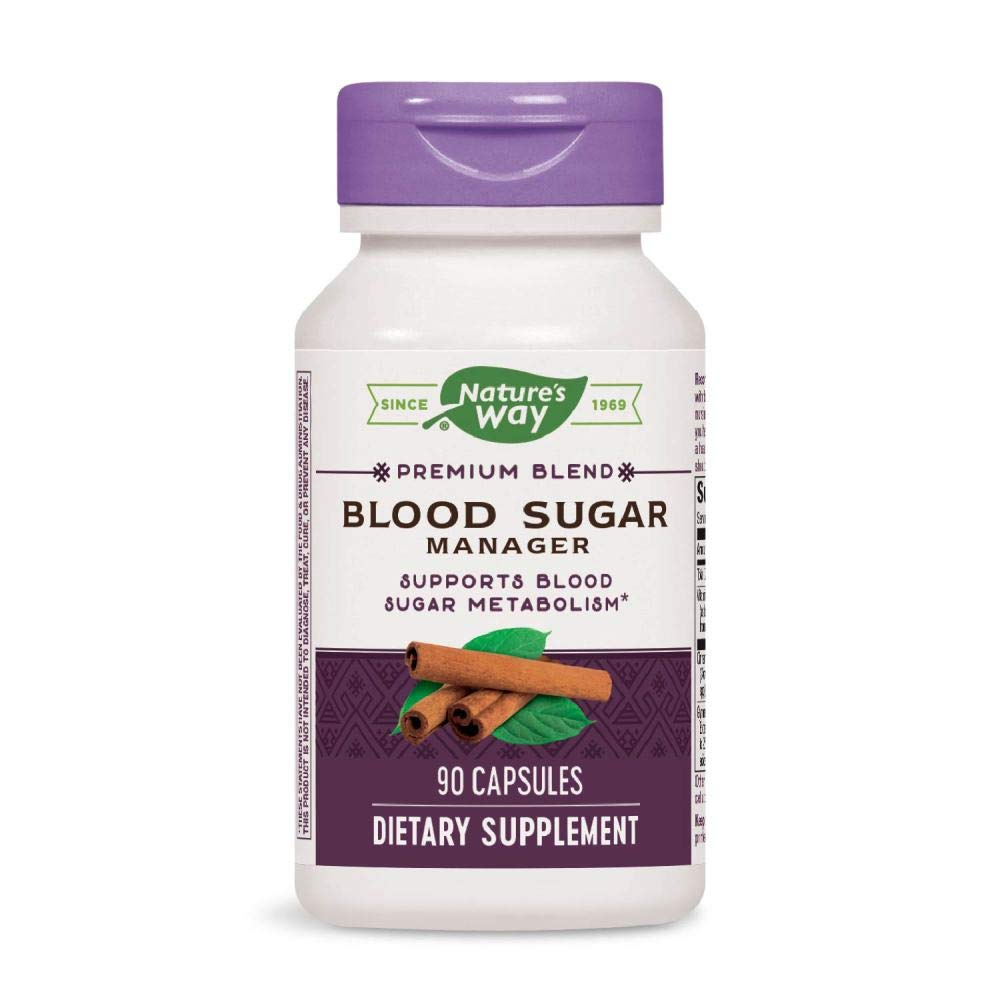 Nature's Way Blood Sugar Manager, 90 Capsules, Pack of 3 by Nature's Way