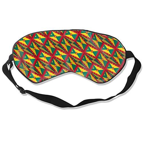 BLDBZQ Sleep Eye Mask Grenada Flag 3D Art Pattern Silk Mask with Adjustable Head Strap Block Light Nap Blindfold