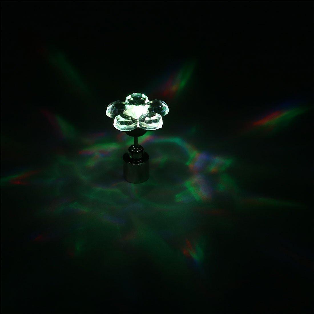 eDealMax Unisex Fiore Light Up LED Multicolore Bling dellorecchio Orecchini di Halloween di Natale
