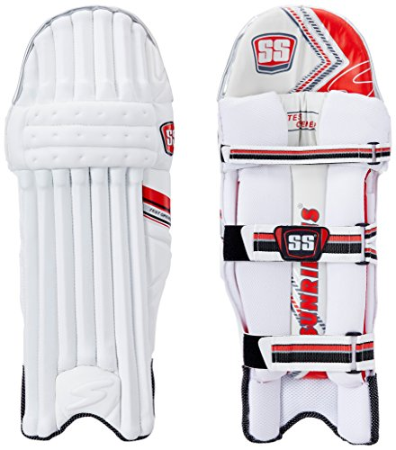 SS Test Opener Men's RH Batting Legguard (White/Red) – Best Cricket Pad