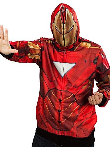 Teenager's Iron Man Classic Mask Fleece Hoodie -
