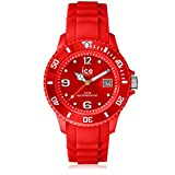 Ice-Watch Men's Quartz Plastic and Silicone Casual Watch, Color:red (Model: SI.RD.B.S.09)