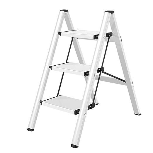 Escalera de Tijera Plegable de Aluminio Taburete de 3 peldaños ...