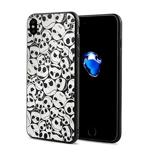 Amonee The Nightmare Before Christmas Bumper Cover for iPhone X,Full Protective,Anti-Scratch Back Black,Drop Protection,Cushion Frame