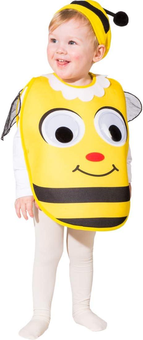 NET TOYS Adorable Disfraz de Abeja para niñas y niños | Amarillo ...