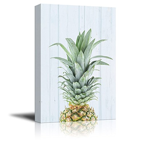 Print Pineapple on Retro Style Background