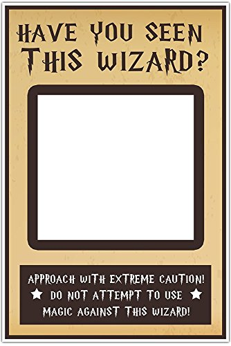 Have You Seen This Wizard Selfie Frame Social Media Frame Photo Booth Prop Poster