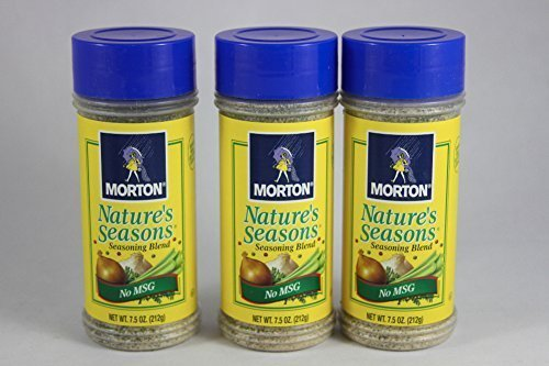 Morton's Nature's Seasons No MSG Seasoning Blend 7.5oz Bottle (Pack of 3) by Morton's