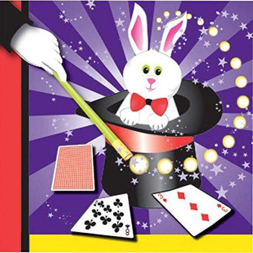 [Magic Party Rabbit Beverage Napkins (16 ct)] (White Theme Party Costumes Ideas)