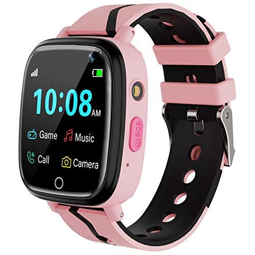 Kids Smart Watch for Boys Girls – Kids Smartwatch with Call 7 Games Music Player Camera SOS Alarm Clock Calculator 12/24…