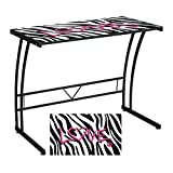 LumiSource Zebra Love Printed Computer Desk