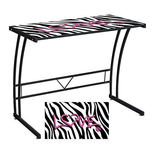LumiSource Zebra Love Printed Computer Desk