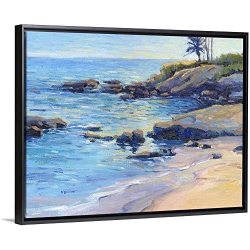 Laguna Plein Air - September Light Black Floating Frame Canvas Art, 32