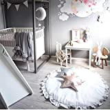 Lace Children's Room Decoration Baby Game Blanket Solid Lace