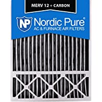 Nordic Pure 20x25x5LXREDPM12C-1 Lennox X6673_X6675 Replacement MERV 12 Pleated Plus Carbon Filter