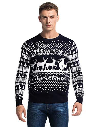 Funny Reindeer - Men's Ugly Christmas Sweater Funny Rude Reindeer Romping Pullover - Get a Room Reindeer, Medium