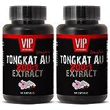 400mg Longjack - Tongkat Ali 200:1 Premium Extract - Natural Testosterone Booster (2 Bottles 120 Capsules)