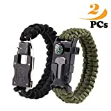 Survival Bracelets,Paracord bracelet, Self-defense stainless steel knife, Emergency Outdoor Paracord Survival Bracelet