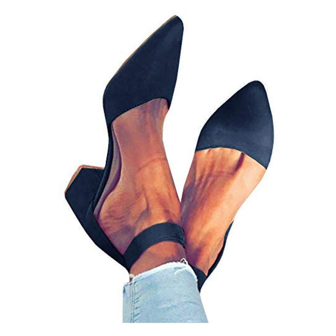 2-navy Womens Peep Toe Cutout Sandals Side Zipper Chunky Low Heel Booties Ankle Heels