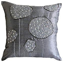 3D Metallic Sequins Beaded Decorative Pillow Cover