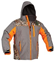ArcticShield Men's Glacier Eclipse Cold Weather Jacket, Orange, Medium
