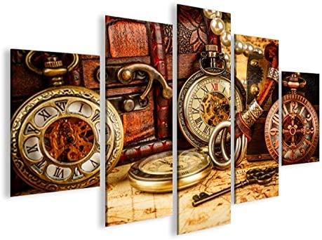 Quadro moderno antiguos relojes MFP Impresión sobre lienzo ...