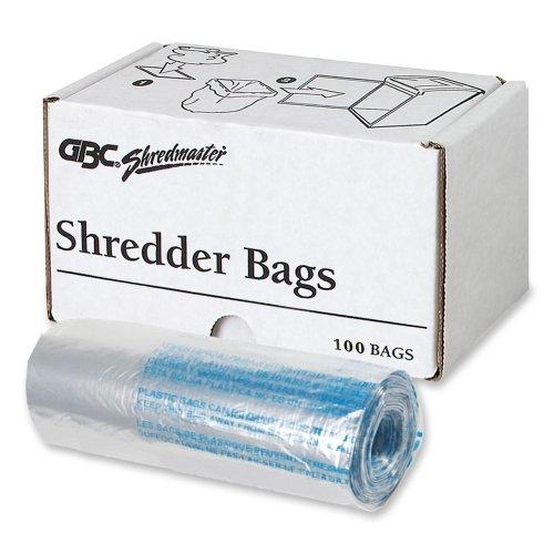 Swingline Poly Shredder Bags,Medium Up To 8 Gallon,100/Box,Clear